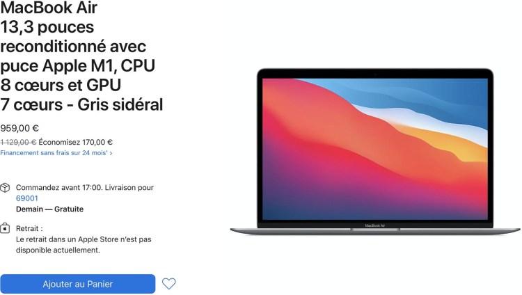 [HOT] : Refurb: voller maßgeschneiderter MacBook Air, ab 959 €