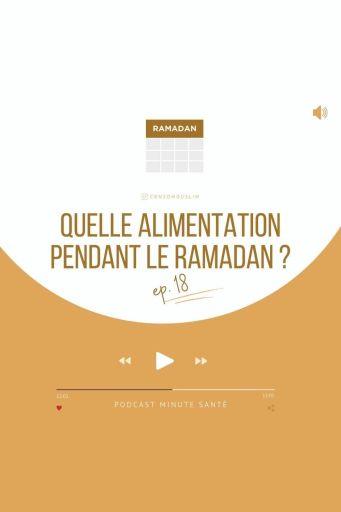 alimentation pendant ramadan