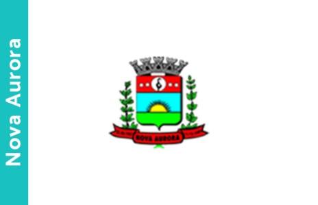 nova aurora bandeira brasao cidade parana
