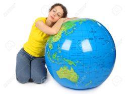 love globe sleeping