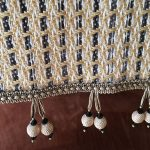 Reversible pub table runner, double ball tassel trim