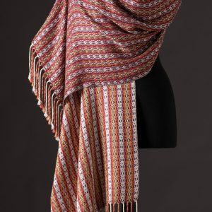 silk blend wrap reversible - wine