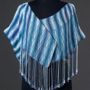 Luxurious silk stole reversible – Indigo