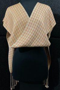 Luxurious reversible silk scarf – Butterscotch