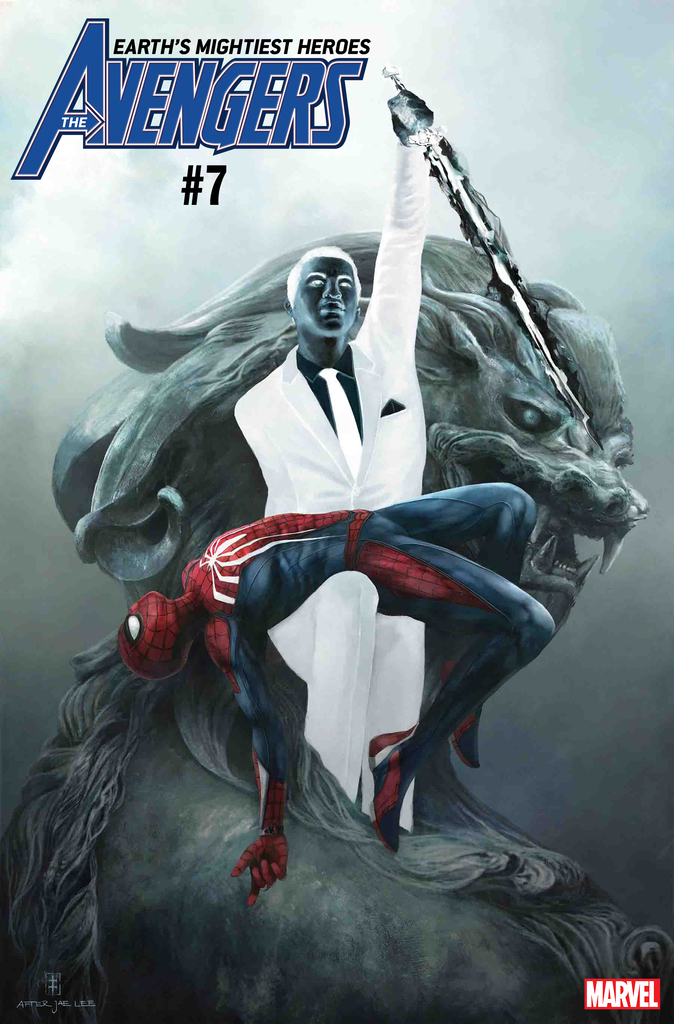 AVENGERS #7 MARVEL'S SPIDER-MAN VIDEO GAME VARIANT by EVE VENTRUE (homage to Dark Reign: Mister Negative Issue #1 by Jae Lee)