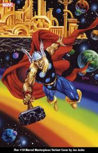 THOR #18 MARVEL MASTERPIECES VARIANT COVER by JOE JUSKO
