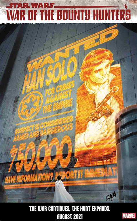 Marvel Reveal Star Wars Wanted Poster Covers From Artist David Nakayama