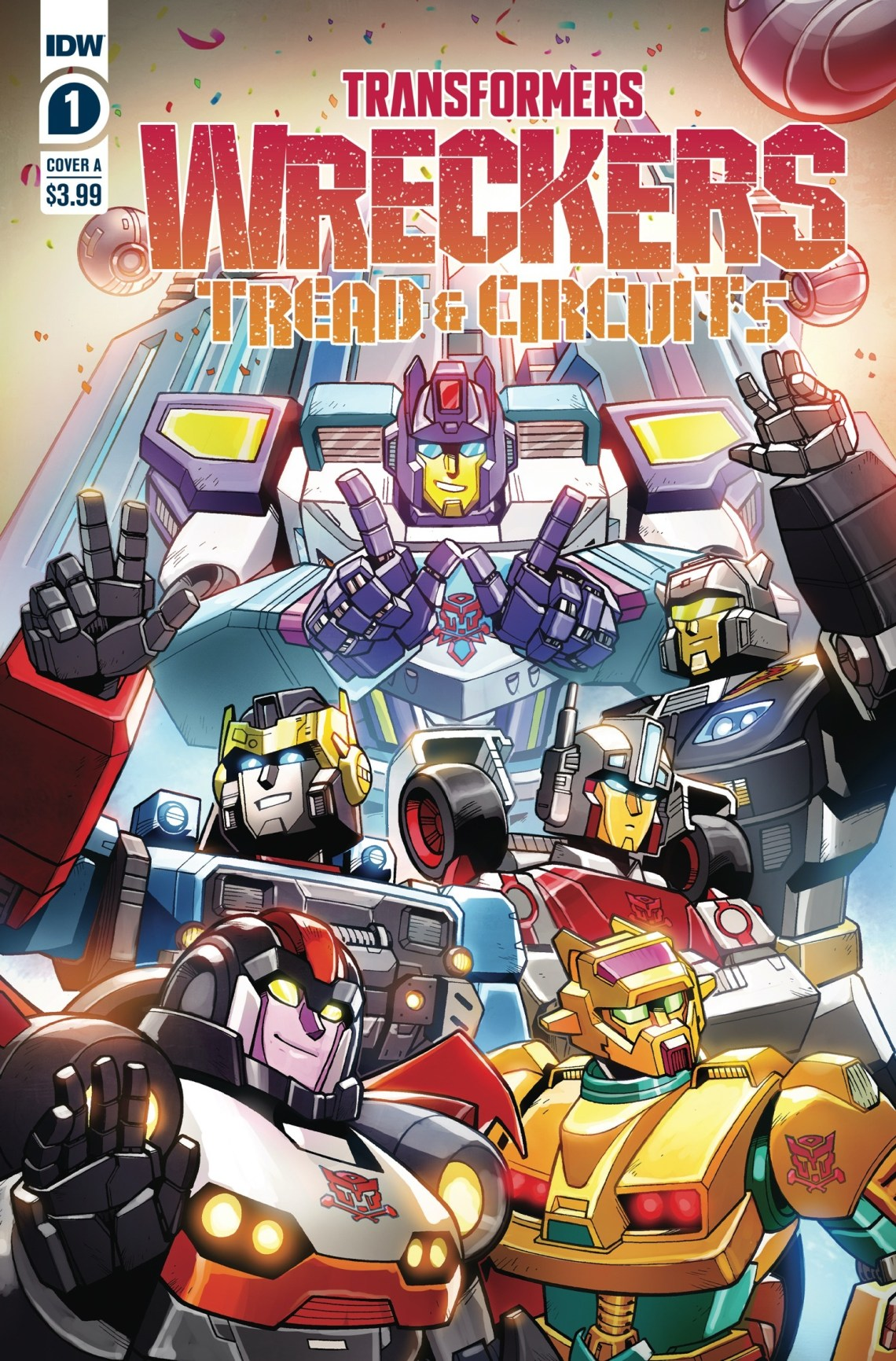 TRANSFORMERS: WRECKERS - TREAD & CIRCUITS Comic Book Series Coming in October from IDW Publishing