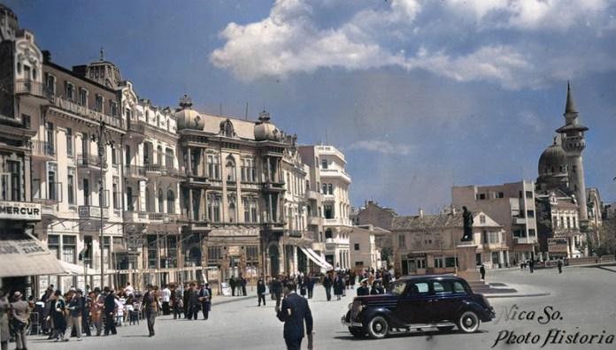 Constanţa, anii 30 Piaţa Independenţei pe atunci, Ovidiu astăzi