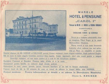 "Marele hotel & pensiune ""Carol I"""
