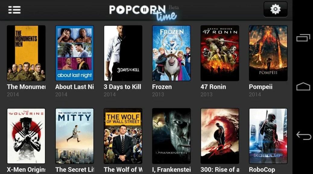 Popcorn Time, le roi du streaming torrent débarque sur Android   Le blog de Constantin image 1