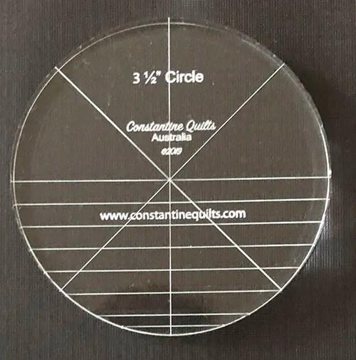 "3 1/2"" circle"