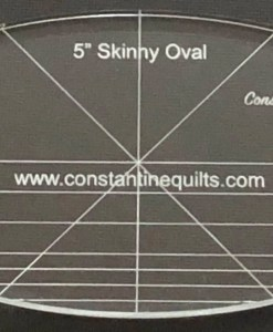 5 skinny oval