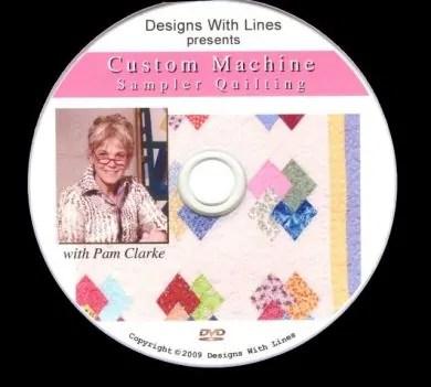 Custom Machine Sampler Quilting DVD workbook