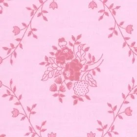 Pink Floral wide fabric