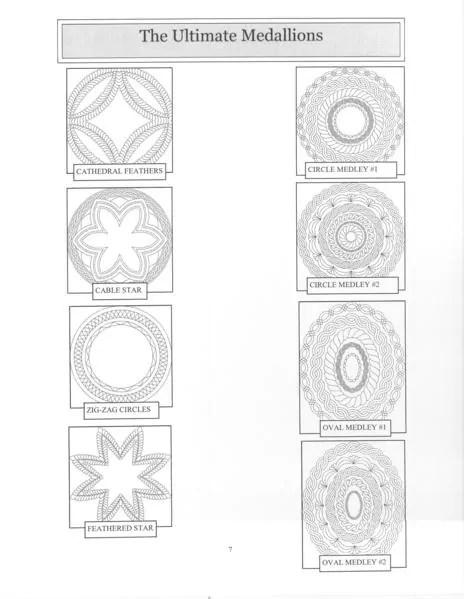 Ultimate Medallion stencil