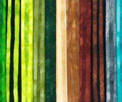 Stripes rainbow precut