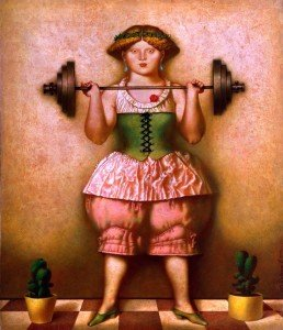 The Weight-lifting Girl - Oleg Dozortzev