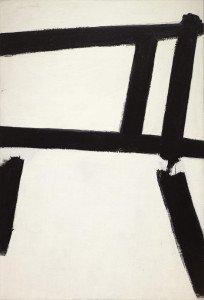 Franz Kline franz formes blanches 1955 MOMA