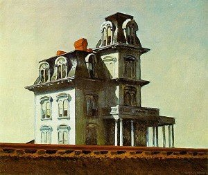 Hopper maison au bord de la voie ferré