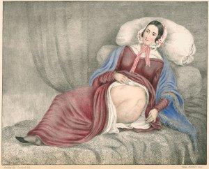 portrait d elizabeth Powis montrant amputation de sa jambe , Leonard