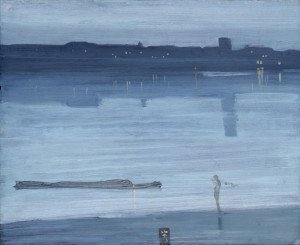 Nocturne: Blue and Silver - Chelsea 1871 by James Abbott McNeill Whistler 1834-1903