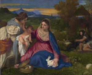 Titien La Vierge au Lapin