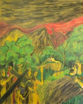 Grădina Ghetsimani, ulei pe pânză, 73x92 cm, an: 2007