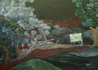 Menirea artei, ulei pe pânză, 80x60 cm, an: 2009
