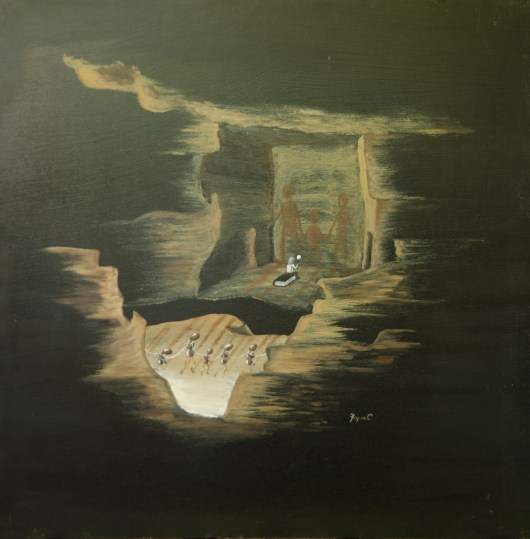 Filosofia, ulei pe pânză, 60x60 cm, an: 2009