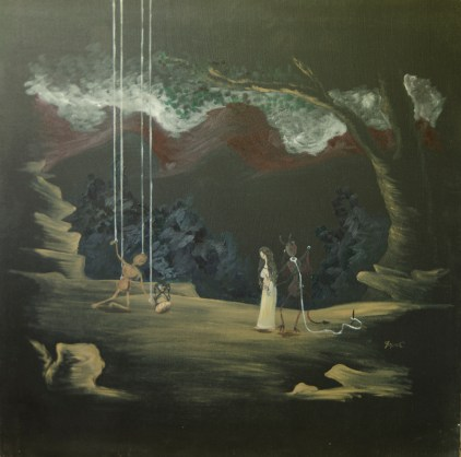 Artistul, ulei pe pânză, 60x60 cm, an: 2009