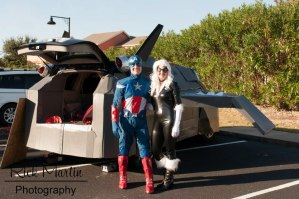 Quinjet, Captain America, and Back Cat