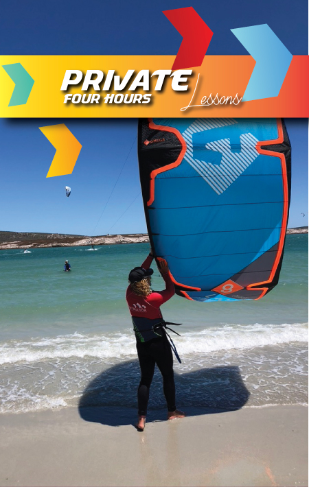 kitesurfing lessons langebaan4 hours private