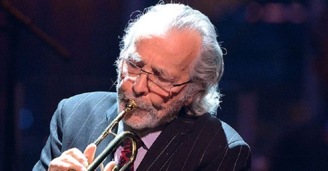 Herb Alpert performs onstage during a celebration of Carole Photo by Buckner/Getty Images