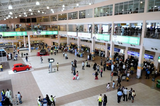 The main departure hall of the Muritala Muhammed International Airport Lagos