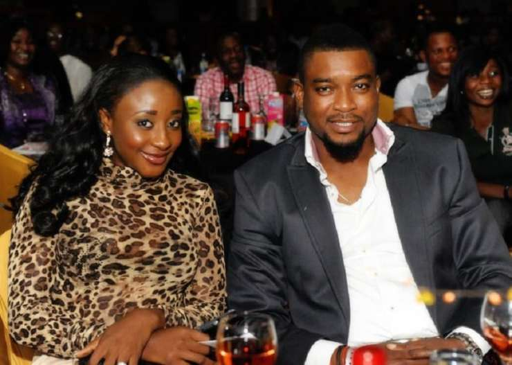 Nollywood actress Ini Edo & Chidi Mokeme at AY Show
