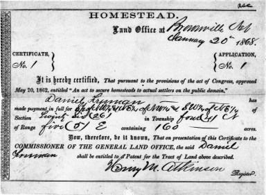May 20, 1862: President Abraham Lincoln Signs the Homestead Act ...