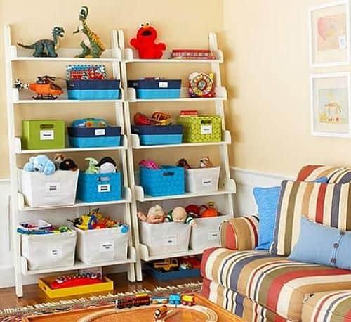 como organizar jogos e brinquedos
