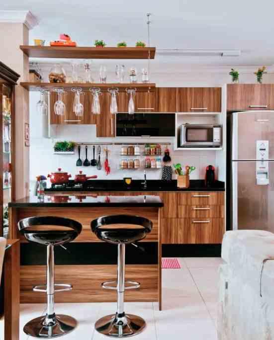 01 cozinhas pequenas planejadas e coloridas