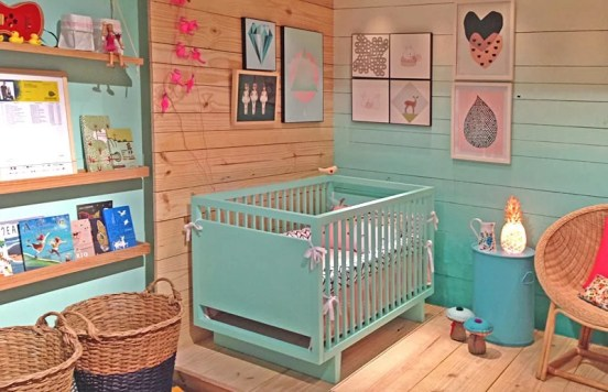quarto de bebe azul tifany simples e lindo