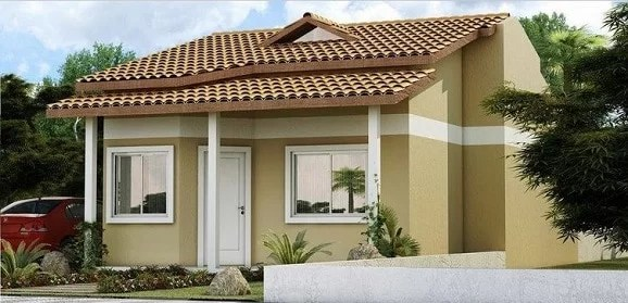 Casa bonita e simples pequena