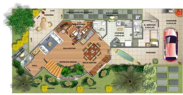 04 planta de casa humanizada com patio