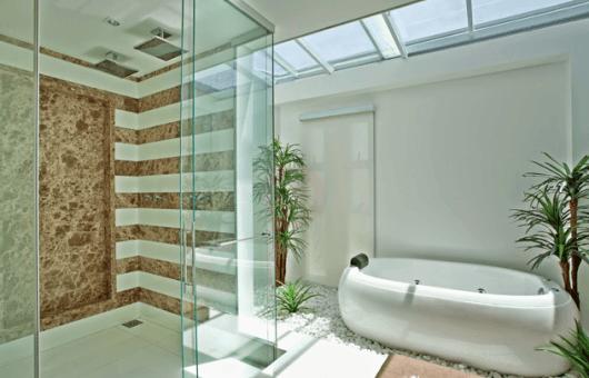 22 banheiro com banheira moderna oval