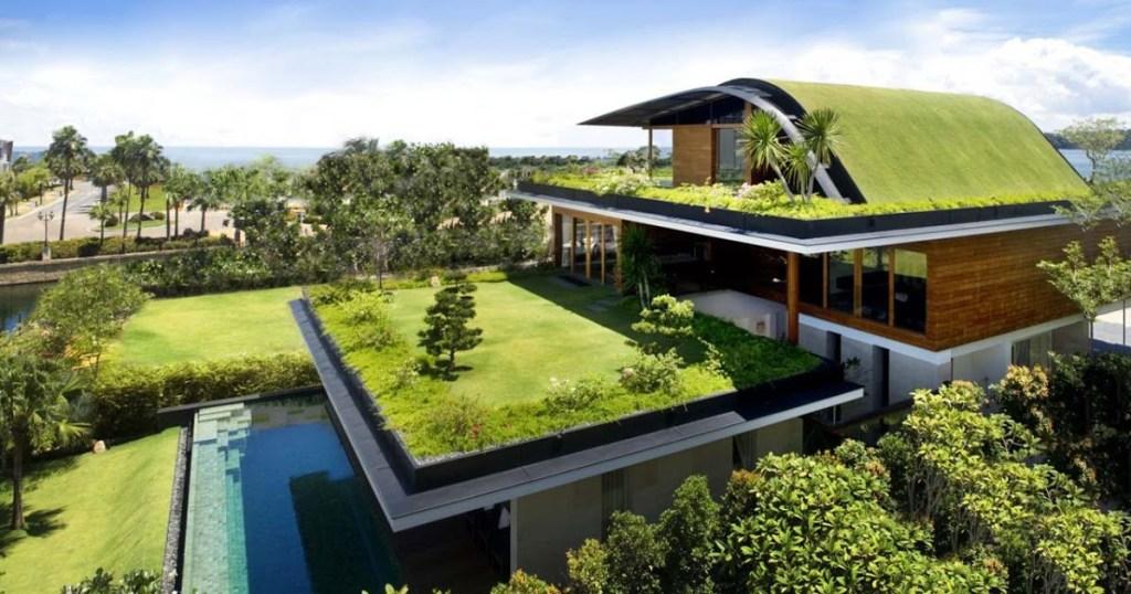 materiais sustentáveis - telhado verde