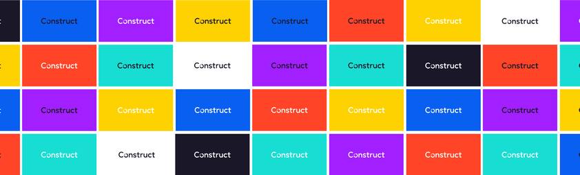 Construct logo in many different colors