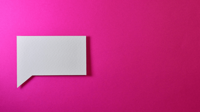 A message checkbox on a pink background