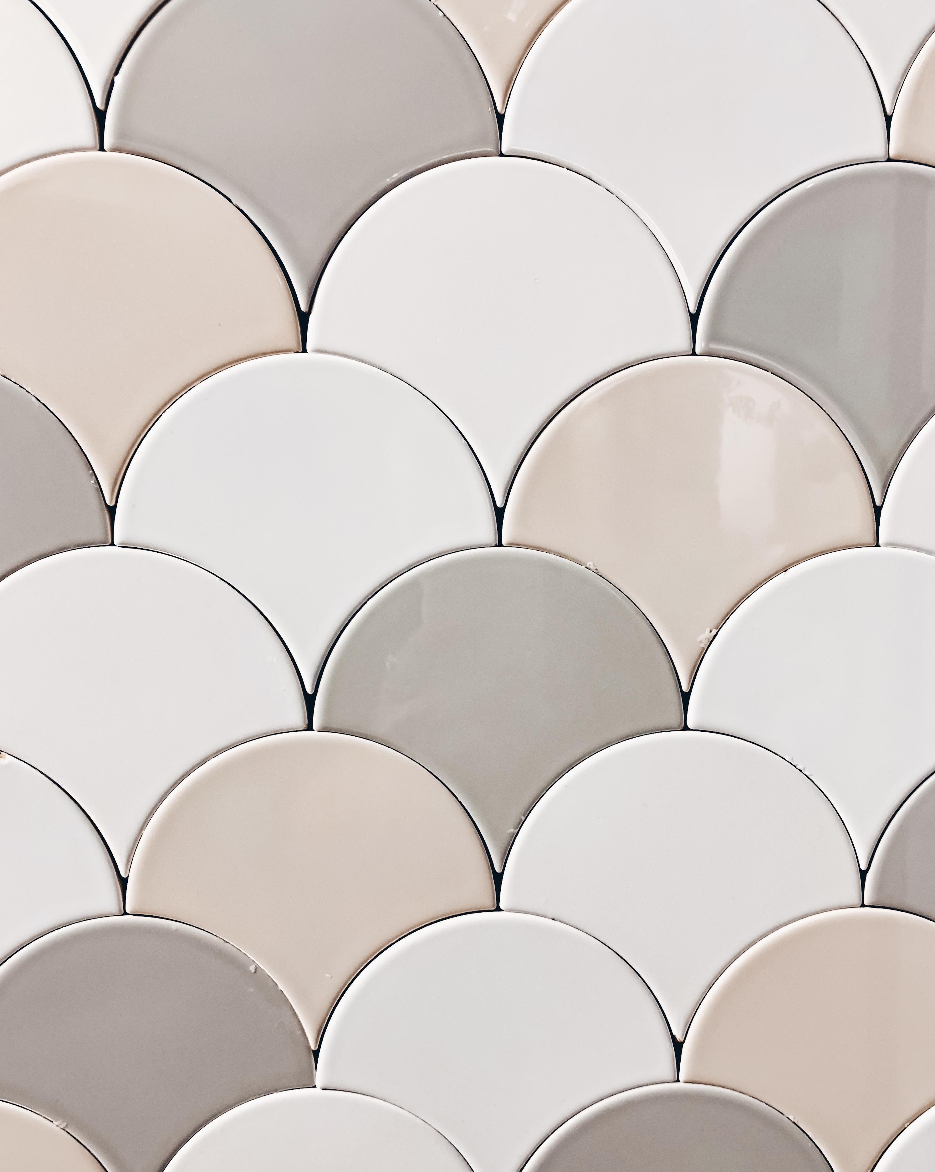 fish scale tile gorgeous 3 part bathroom renovation