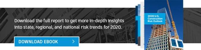 US 2020 construction risk outlook banner
