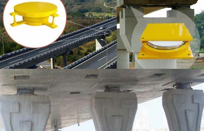 Different types of bearings used in bridge structures