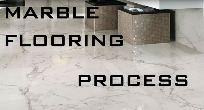 How to develop marble flooring in a site